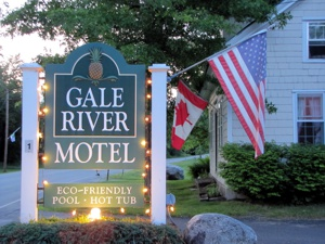 The Gale River Motel showing her colors