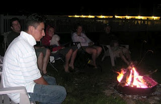 Fire pit brings guests together
